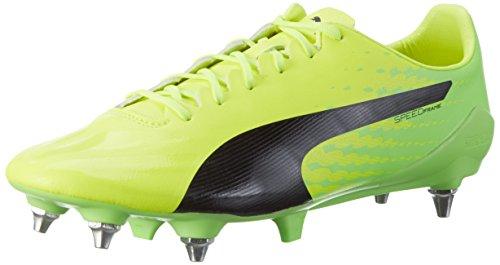 Puma Evospeed 17 Sl S Mx Sg, Chaussures de Football Homme Jaune (Safety Yellow-puma Black-green Gecko 01)
