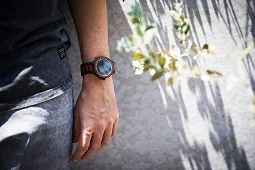 Zeitholz Herren-Holzuhr analog mit Sandelholz-Armband Modell Zittau schwarz - braun - 4