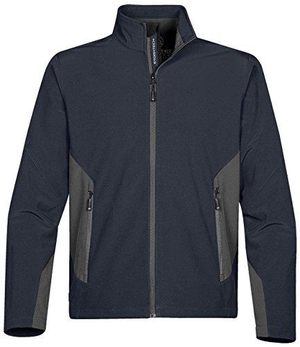 Stormtech Wasserdichte Pulse Softshell Leicht Sport Jacke Erwachsene Wasserdicht Reißverschluss oben - Navy/ Granite