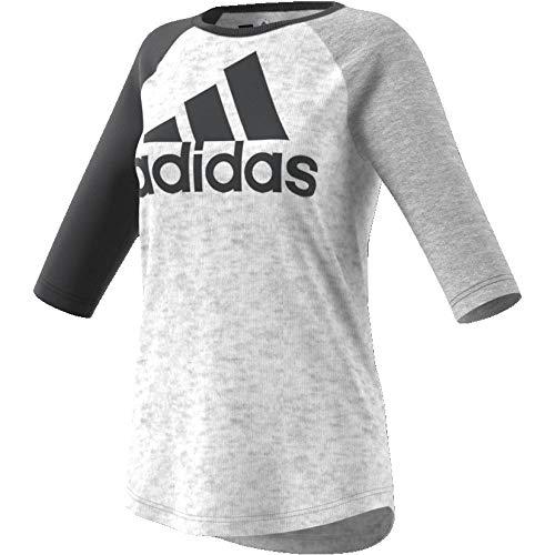 designer fashion e3880 f5766 adidas Sport ID Baseball T-Shirt Femme, Blanc, FR (Taille Fabricant