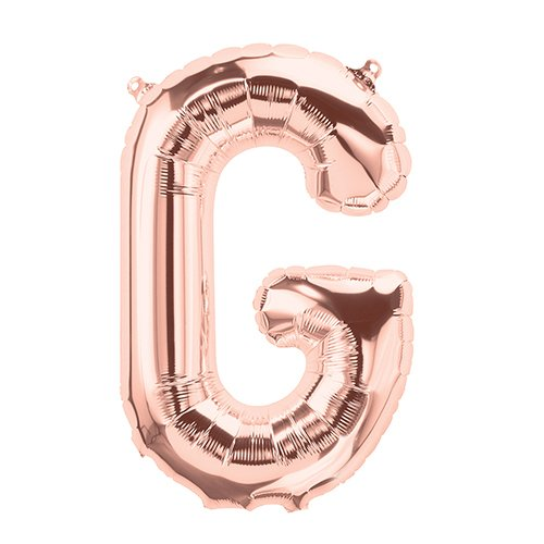 NorthStar Balloons-Ballon Aluminium Lettre G De 41Cm Non Gonflé De Couleur Rose Perlé