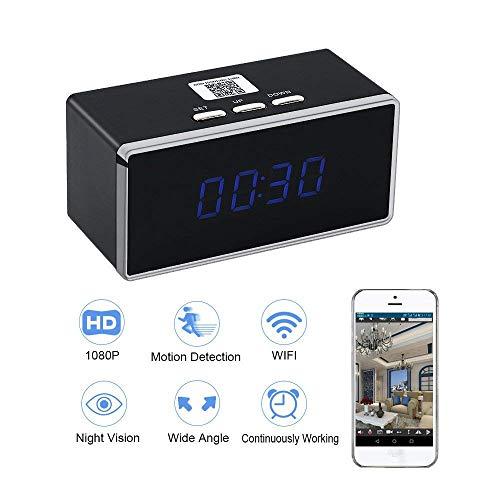 Camara EspiaWIFI Despertador HD 1080P TANGMI Cámara de Niñera P2P