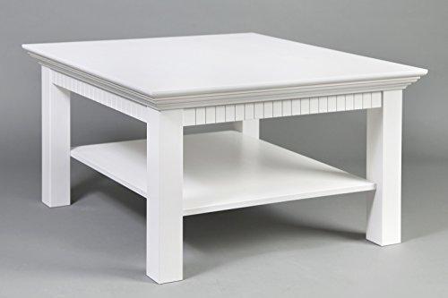 clever-moebel Couchtisch Weiß Lackiert, Maße:76x76cm