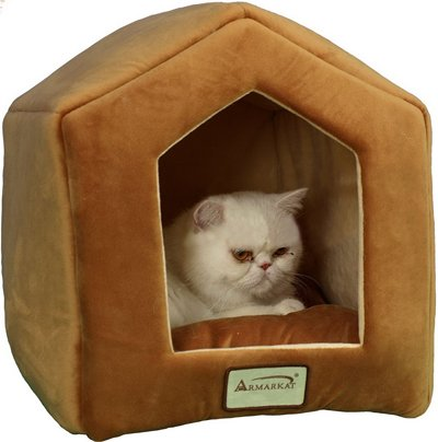 Armarkat Cave Shape Pet Cat Beds for Cats and Small Dogs-Waterproof and Skid-Free Base