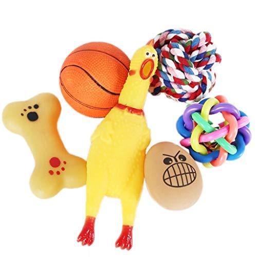 Hunde Spielzeug Toy Ball Schreien Huhn Hund Frisbee Welpen Gesang Molaren Toy Dog Training Liefert 6 Sätze Spielzeug für Haustiere