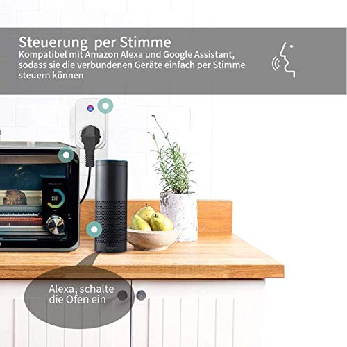 Kein Hub ben/ötigt SIPAILING WLAN smart steckdose intelligente plug Kompatibel mit Alexa Google Home und IFTTT Wifi Stecker fernbedienbar mit Timer Funktion App Steuerung 3 pack
