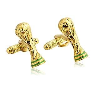 Daesar 1 Paar Gold Manschettenknopf Hemd Pokal Form Edelstahl Herren Manschettenknöpfe Hochzeit mit Geschenkbox