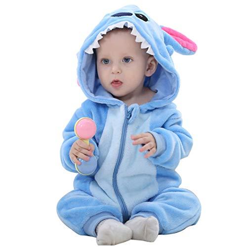 Neugeborene Baby Kapuzenpullover, Schneeanzug, Einteiler für Herbst und Winter, Dinosaurier, 100 cm -