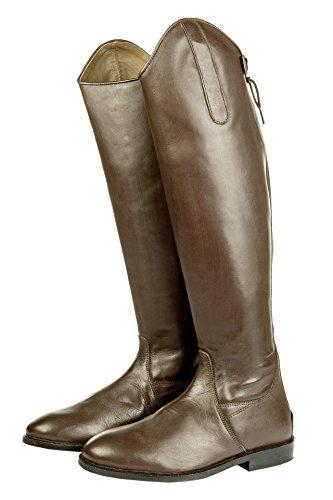 HKM Herren Reitstiefel-Italy,Soft Leder,standardlänge/Weite, braun, 43