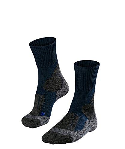 falke tk1 cool FALKE TK1 Cool Damen Trekkingsocken / Wandersocken - blau, Gr. 39-40, 1 Paar, kühlende Wirkung, extra starke Polsterung, feuchtigkeitsregulierend