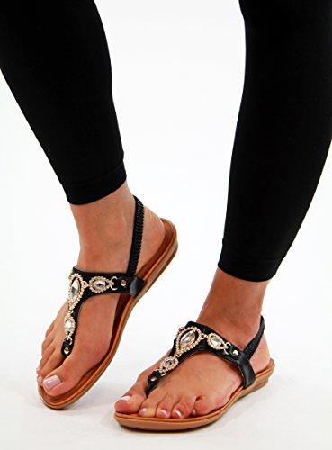 Generic - Strap alla caviglia donna Black