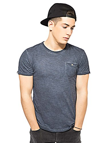 Bellfield -  T-shirt - Uomo Acid Wash Blue Large