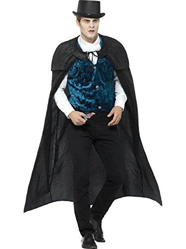 Smiffys, Herren Deluxe Jack der Lustmörder Kostüm, Umhang, Weste, Krawatte und Messer, Grö Preisvergleich