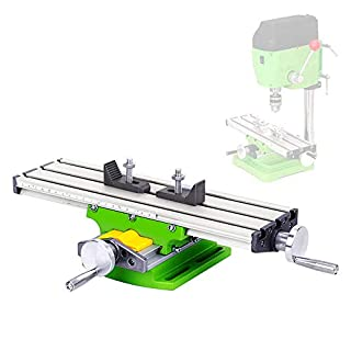 Mini Multifunction Worktable Milling Working Cross Table Milling Machine Compound Drilling Slide Table for Bench Drill Adjustme X-Y, Working Area: 330×95mm