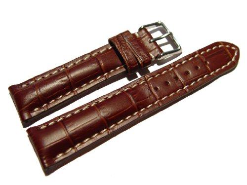 orig-watchband-berlin-uhrenarmband-stark-gepolstert-kroko-pragung-dunkelbraun-20mm