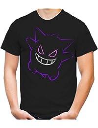 Gengar T-Shirt | Nintendo | Gamer | Manga | Männer | Herren | Baumwolle | Go | Comic | Anime | Pokemon | Mew | Mewtu | Pikachu