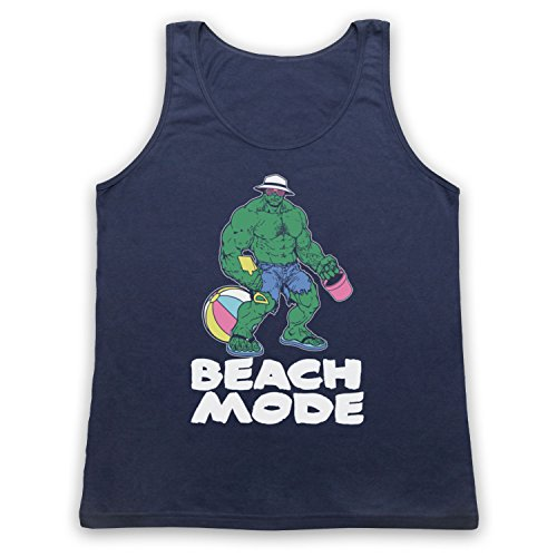 Beach Mode Gym Workout Slogan Tank-Top Weste Ultramarinblau