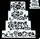 Sugar and Cakes 4 Stencil Icing Back-Schablone Filigran Blumen Air