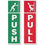 CVANU® Self Adhesive Push And Pull Sign Stickers .