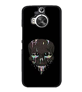 printtech Skull Abstract Back Case Cover for HTC One M9+