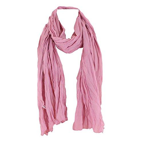 Leichter Damen Schal Nr. 374 viele Farben Rosa