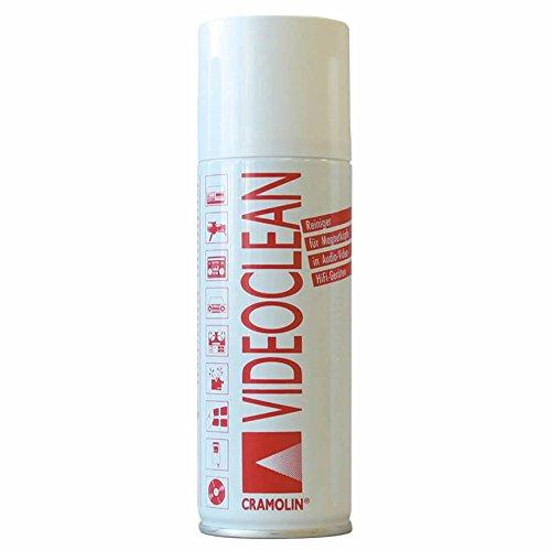 Preisvergleich Produktbild VIDEOCLEAN 200ml Spraydose - Reiniger speziell für Bandabrieb und Magnetköpfe - ITW Cramolin - 1031411 - rasch und zuverlässig, inkl. 1 St. orig. DEWEPRO® SingleScrubs