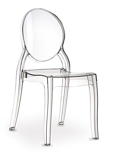 Preisvergleich Produktbild Ghost Plexiglas chair Stuhl Elizabeth Transparent Durchsichtig. Abbildung in Transparent klar (Keine China Ware = Qualität).