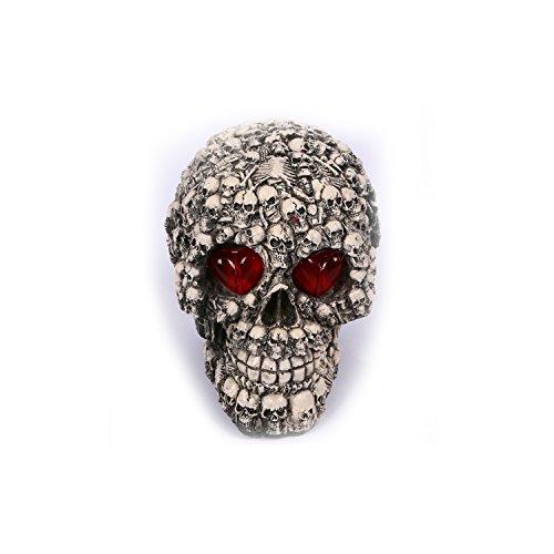 Schädel aus Harz, Schädel Kopf Modell Deko, Totenkopf Halloween/Room Escape Requisiten/Spukhaus Dekoration, circa 9.0 x 15 cm (Stil 3 (Lebensgroße Halloween Requisiten)