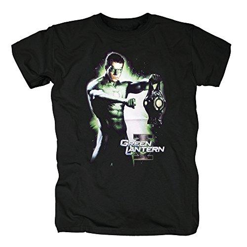 Green Lantern-batterie (TSP Green Lantern - Hal and Battery T-Shirt Herren L Schwarz)