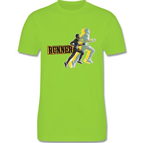 Laufsport - Runner - Herren Premium T-Shirt Hellgrün