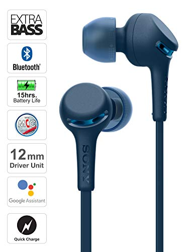 Sony WI-XB400 Wireless in-Ear Extra Bass Headphones with Neck-Band Design - Blue Image 2