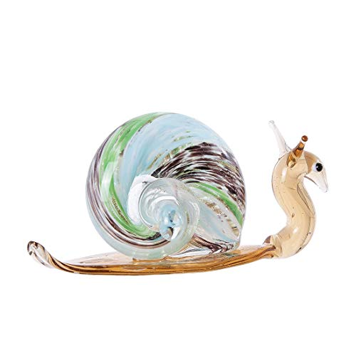 crystalsuncatcher - Decorative Figure of Small Crystal Snails, Animal, Home or Office design, Handmade, Blown Birthday Gift