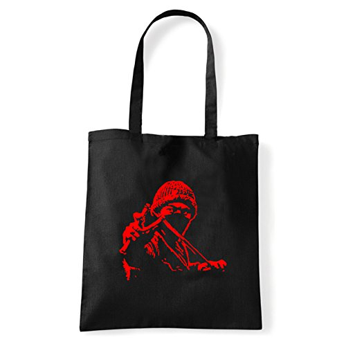 Art T-shirt, Borsa Shoulder ninja-street Nero