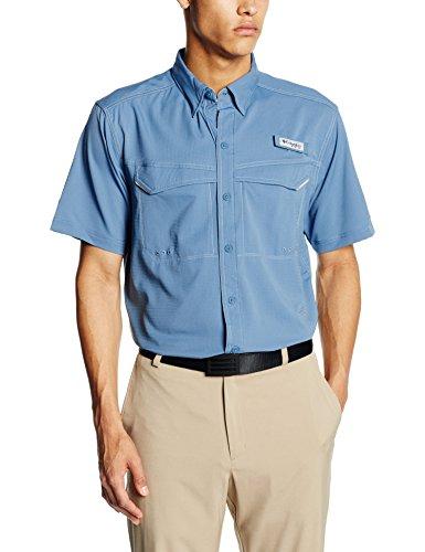 Columbia a bassa frizione Offshore Men's-Maglietta a maniche corte Blu - acciaio