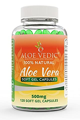 Aloevedic - 100 % Natural Aloe Vera Gel soft capsules