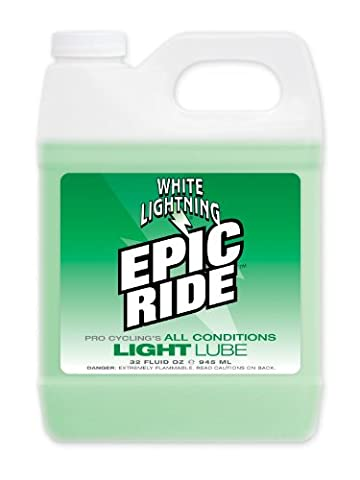 White Lightning Epic Ride All Conditions Light Bicycle Chain Lube 32oz Quart Jug