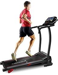 La cinta andadora Sportstech F15 con aplicación de control Smartphone, Bluetooth, 3 HP, 12 KM/H, para caminar y correr con 17 programas y soporte de tabletas