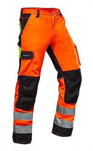 Pfanner Warnschutz Bundhose Stretchzone EN20471, Größe:48, Farbe:orange/schwarz