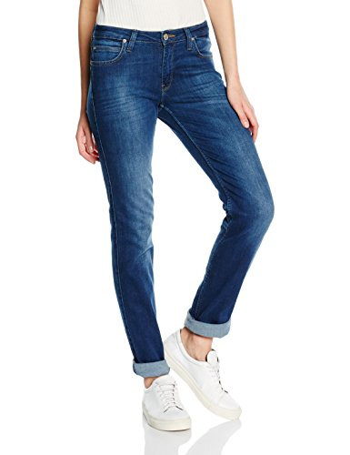 Lee Damen, Straight Leg, Jeans, Marion, GR. W34/L33 (Herstellergröße:34/33), Blau (night Sky)