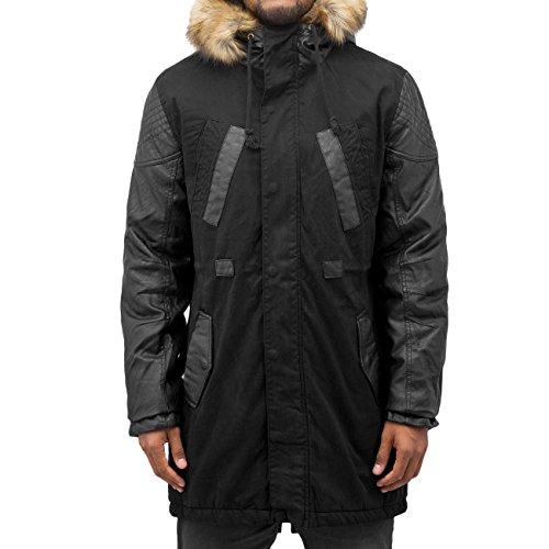 Bangastic Homme Vestes & Blousons / Manteau PU Sleeves Noir