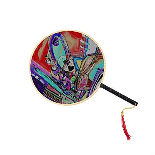 1895 Öl (WYYWCY Künstlerische Öl Straßengemälde Chinesische Antike Fan Klassische Palace Paddle Fan Dance Fan Hand Fan Zubehör Hand Fans Für Männer Hand Fan Reise Chinesische Antike Fan)