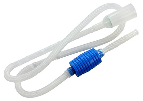 BPS® Pool-Reiniger Aquarium-Zubehör Siphon-Reinigung-Aquarium-Behälter-Rohr nimmt Wasser-Handpumpen-Wechsler-Wasser 2 Maße 170 / 207cm zu wählen (weiß 170cm) BPS-6594 * 1