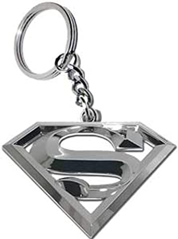 SUPERMAN Logo with sturdy chrome ring, Original DC Comics Artwork, High Quality 3