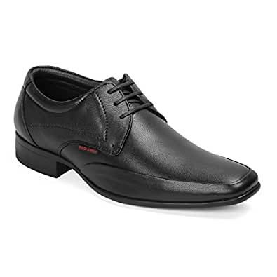 Red Chief Leather Men's Formal Shoes Black