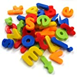 FunBlast™ (Pack Of 1) Magnetic Learning Letters Alphabets And Numbers, Premium Quality ABC, Abc And 123 Educational Magnets With Mathematical Symbol For Kids, Multicolor (Small Letters)
