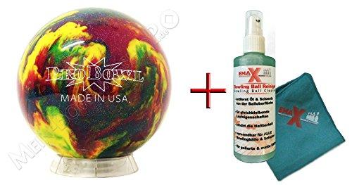 bowlingball-einsteiger-und-raumball-probowl-violet-blue-yellow-8-lbs-bis-15-lbs-reiniger-und-handtuc