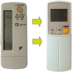 Mando a distancia BRC 4C151para aire acondicionado Dalkin, compatible con Ios Modelos Daikin BRC4C151 - BRC4C152 - BRC4C155 - BRC4C158