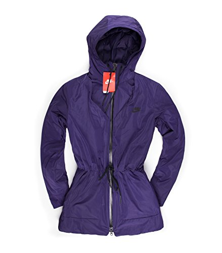 Nike Women's Insulated Down Hooded Parka Jacket Purple (s) - Insulated Hooded Parka