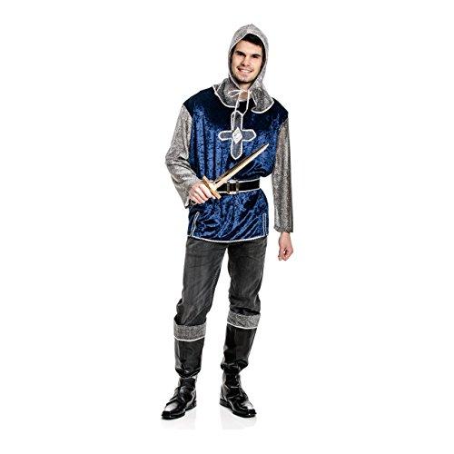 Kostümplanet® Ritter-Kostüm Herren mit Stiefelstulpen Männer Mittelalter-Kostüm Fasching Größe (Kostüme Mittelalter Mann)