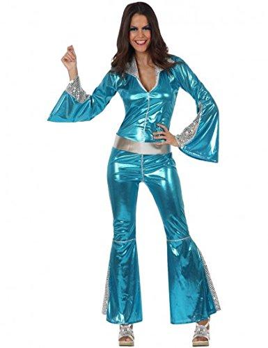 Silber-blaues Disco-Kostüm für (Schuhe Disco)